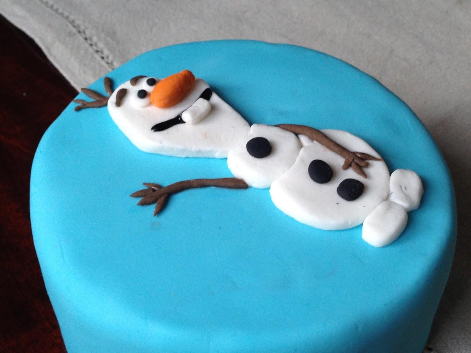 Tarta fondant Olaf