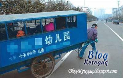 Penarik bas sekolah di China