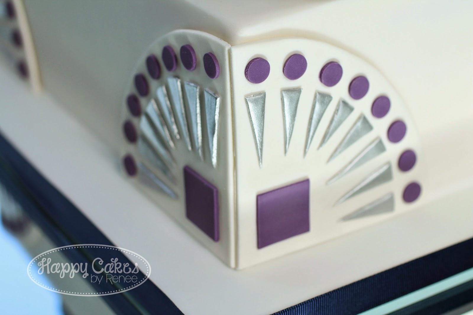 Art Deco Cake Designs : Great Gatsby/Art Deco themed Wedding Cake!   Renee Conner ...