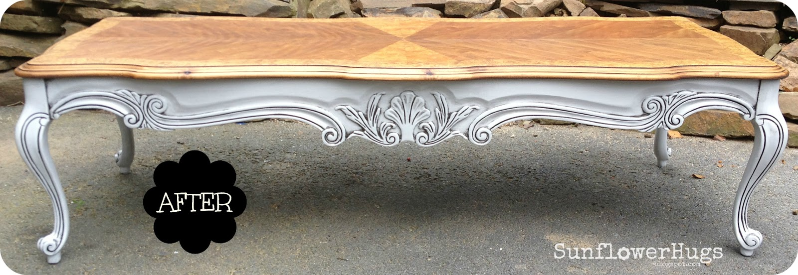 ... 5 Long French Country Coffee Table ...