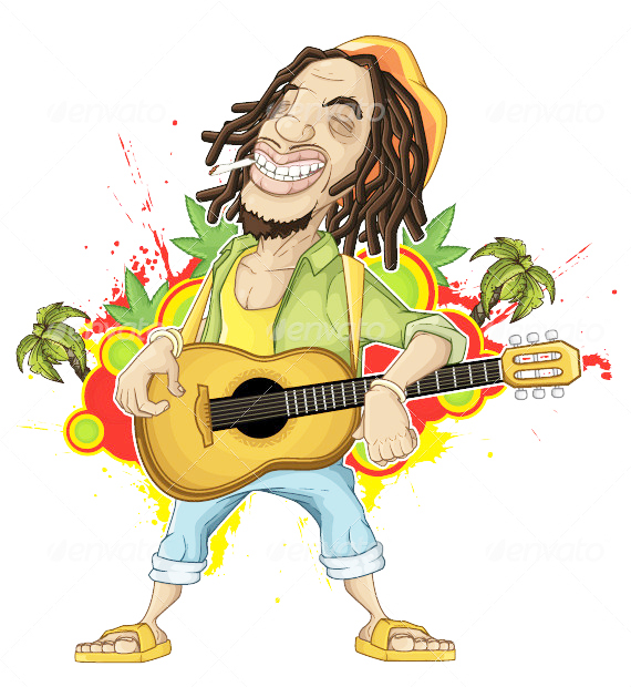 Gambar Reggae Kartun Lucu Berwarna