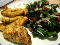 Crispy Herb Chicken with Vegetable Hash