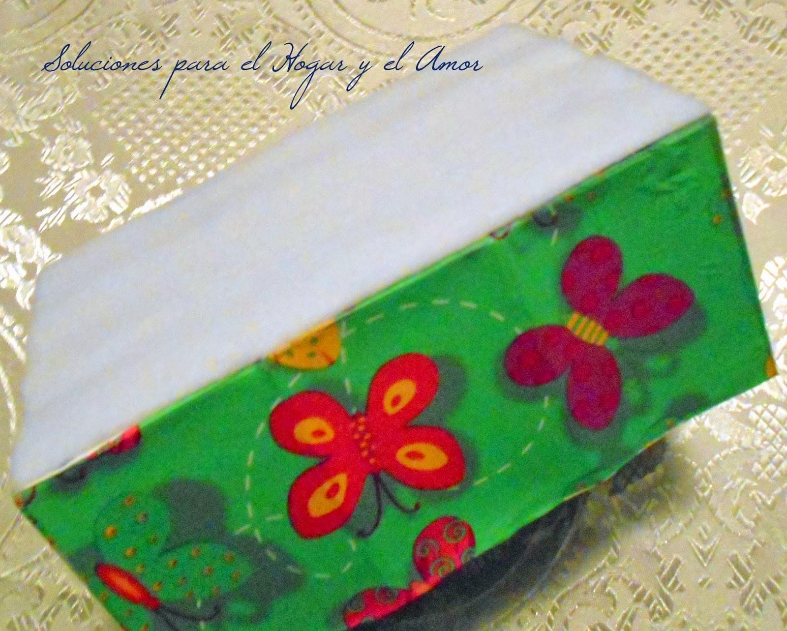 Organizador de Lápices Reciclando Cajas y Decoupage, manualidades con cajitas de jabón de carton