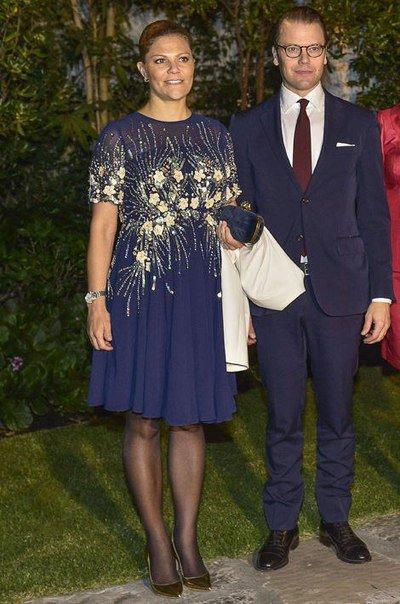 Princess Victoria wear Asos Maternity Midi Skater Dress