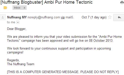 Terima email dari Nuffnang: Kempen Blogbuster