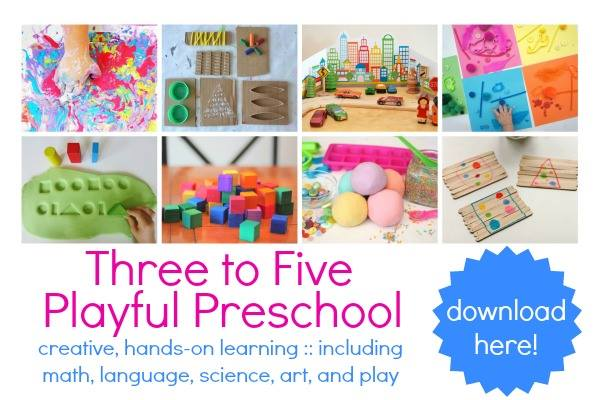 Three to Five Playful Preschool ebook resource for parents cover image