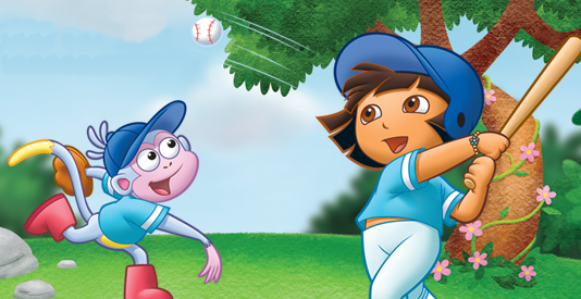 Dora is a natural when it comes to baseball