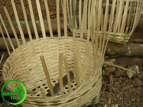 Carangka Anyaman dari Bambu