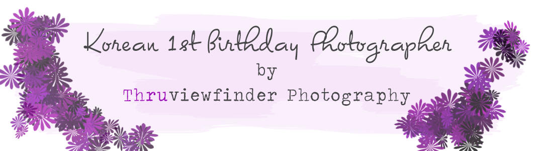 Korean 1st Birthday Photographer