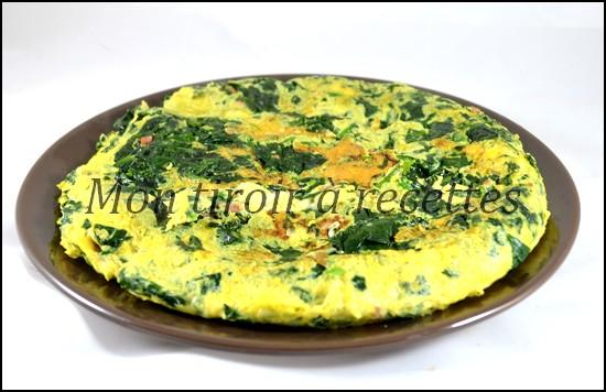 omelette lardons épinards