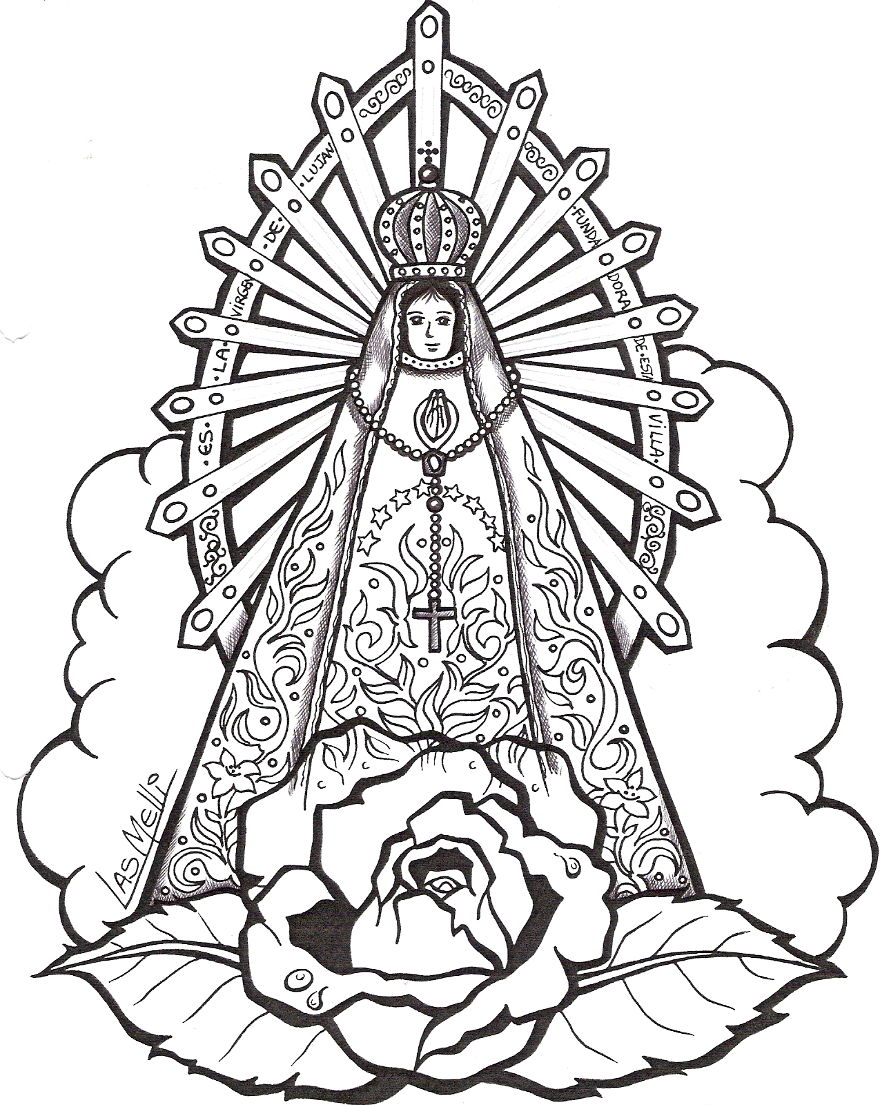 Imagen para Imprimir de la Virgen de Lujan con historia
