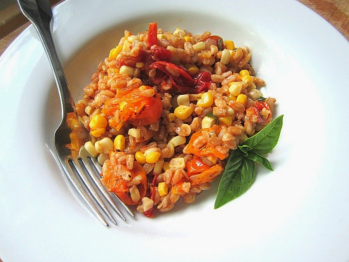 Stacey Snacks: Farrotto w/ Summer Corn & Roasted Cherry ...