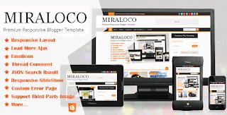 Miraloco Responsive Blogger Template