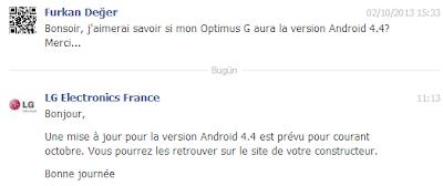 LG, LG Optimus G, Optimus G, Android 4.4