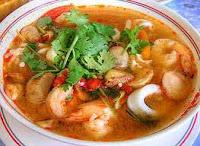 Receta de sopa de mariscos y verduras