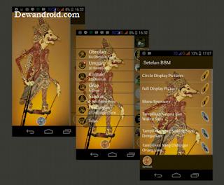 BBM Plus Tema Wayang (Mod) Versi 2.8.0.21