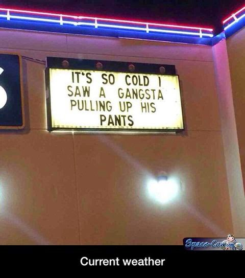 funny cold weather message