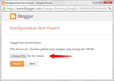 Cara Mengganti Favicon di Blogger dengan Benar