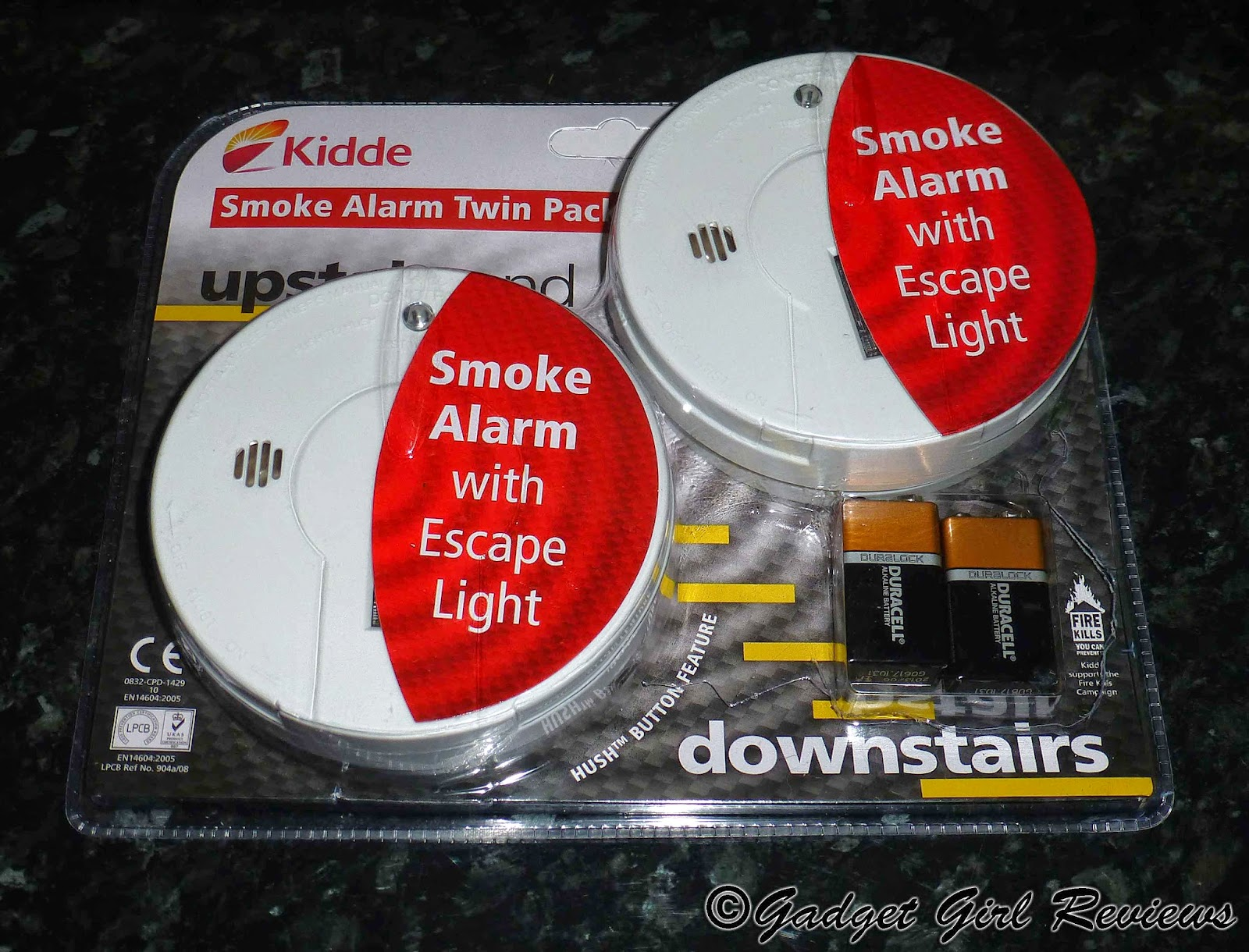 kidde smoke alarm twin pack with emergency escape light review