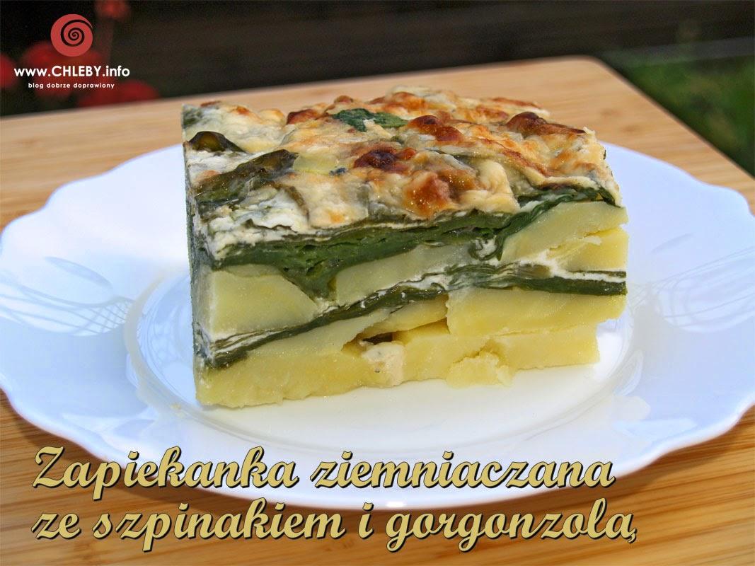 Zapiekanka ziemniaczana ze szpinakiem i gorgonzolą