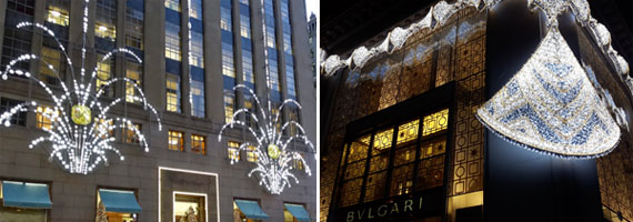 Escaparate de Bulgari y Tiffany's Nueva York 2015