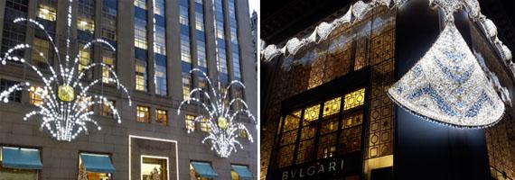 Escaparate de Bulgari y Tiffany's Nueva York 2015