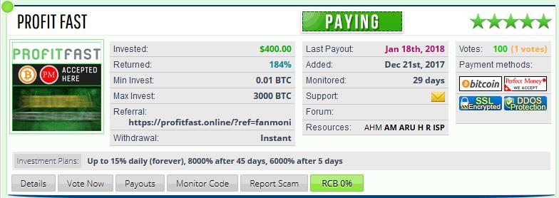 Hyip monitor maxi-pro.net