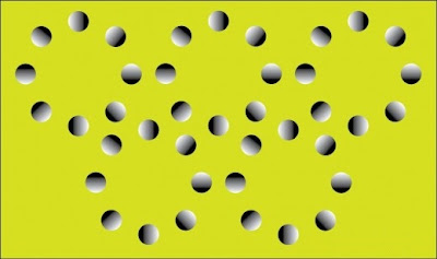 Moving Circle Optical Illusion