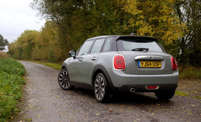 Mini Cooper D five-door rear view