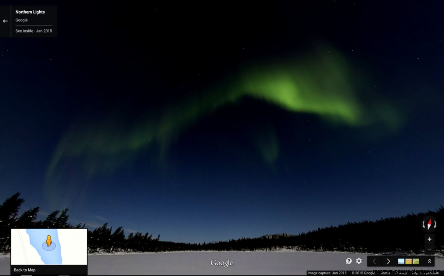 Google Lat Long The aurora borealis lights up Google Maps