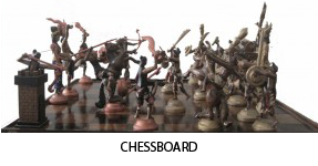 antique wooden chessboard