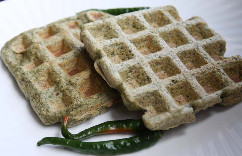 am sharing some of these Mung Bean and Fenugreek Waffles with My ...