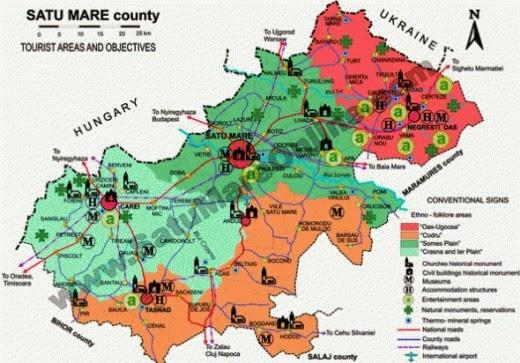 map of satu mare from satumareonline
