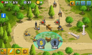 Screenshots of the Defense of Greece for Android tablet, phone.