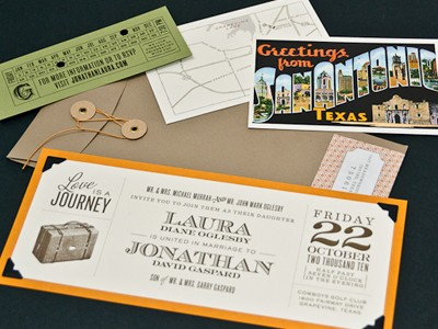 some of these great travel themed wedding invitations and stationery