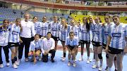 Luciana Salvadó, una de las más efectivas para la selección argentina. selecciã³n argentina de handball