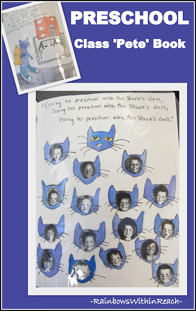 photo of:Pete the Cat Goes to Preschool, a class book response to popular picture book