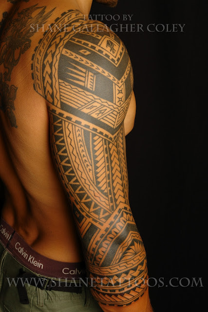 Shane tattoos polynesian 3 4 sleeve for 3 4 sleeve tattoo