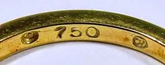 750 gold marking