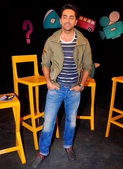 Ayushmann Khurrana on the sets of 'Captain Tiao'