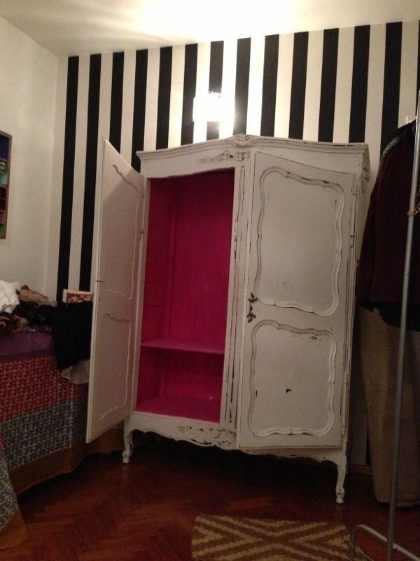 Vintouch muebles reciclados pintados a mano ropero - Muebles antiguos pintados de blanco ...