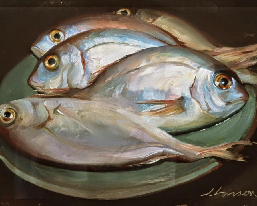 Cuadros modernos pinturas y dibujos peces bodegones al for Cuadros con peces
