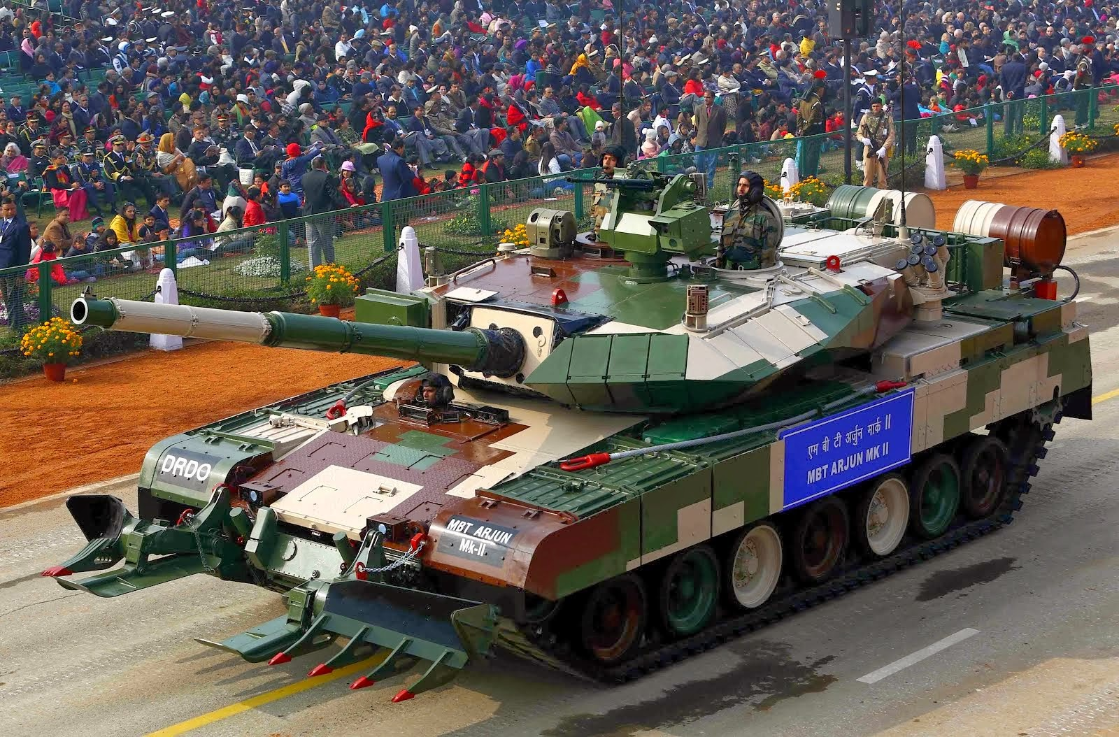 Army tank in parade 26th january wallpaper