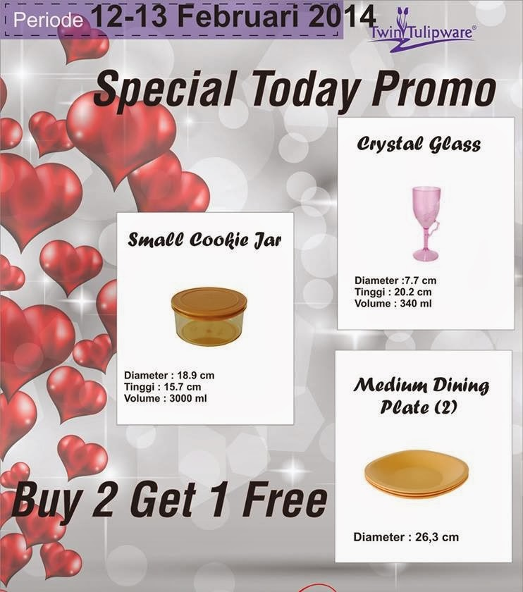 Promo Tulipware 12 dan 13 Februari 2014