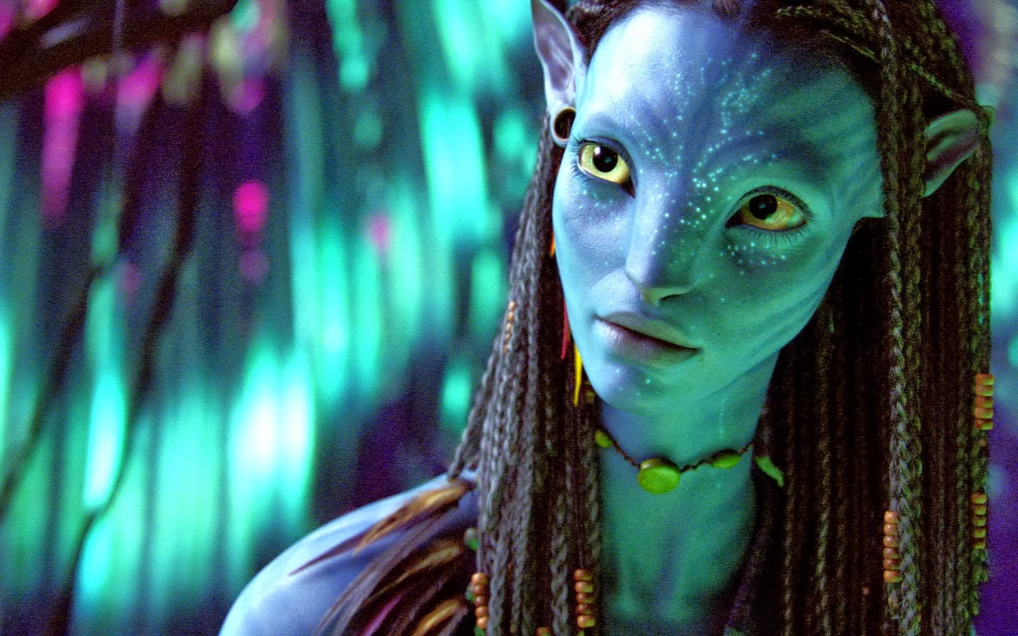 neytiri beautiful warrior in avatar wallpapers - Neytiri Beautiful Warrior in Avatar Wallpaper (1680x1050