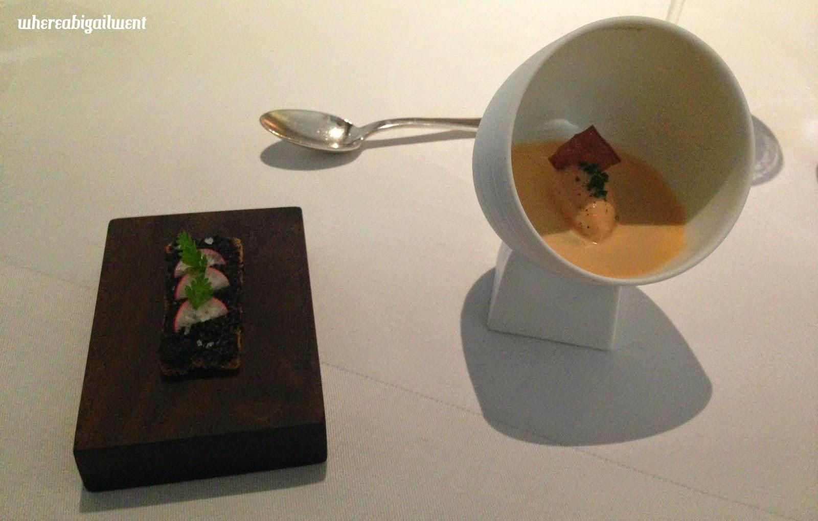 Crayfish Cream and Chicken Liver Parfait