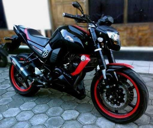 modifikasi motor byson warna hitam  paling bagus