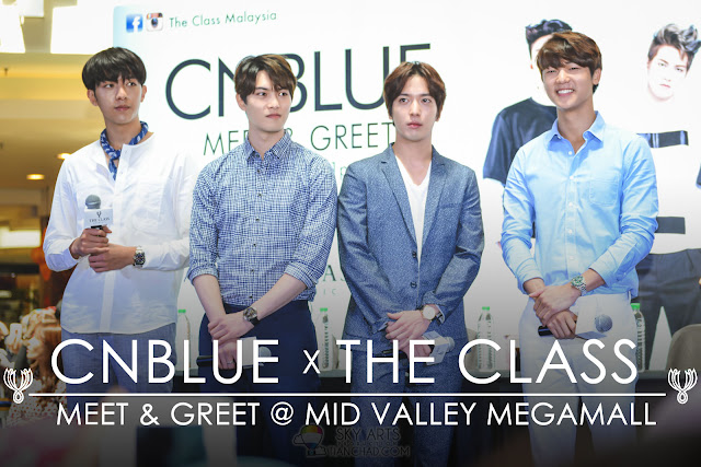 CNBLUE x THE CLASS Meet and Greet @ Mid Valley Megamall