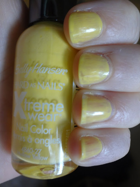 Sally Hansen Mellow Yellow Swatch, first coat