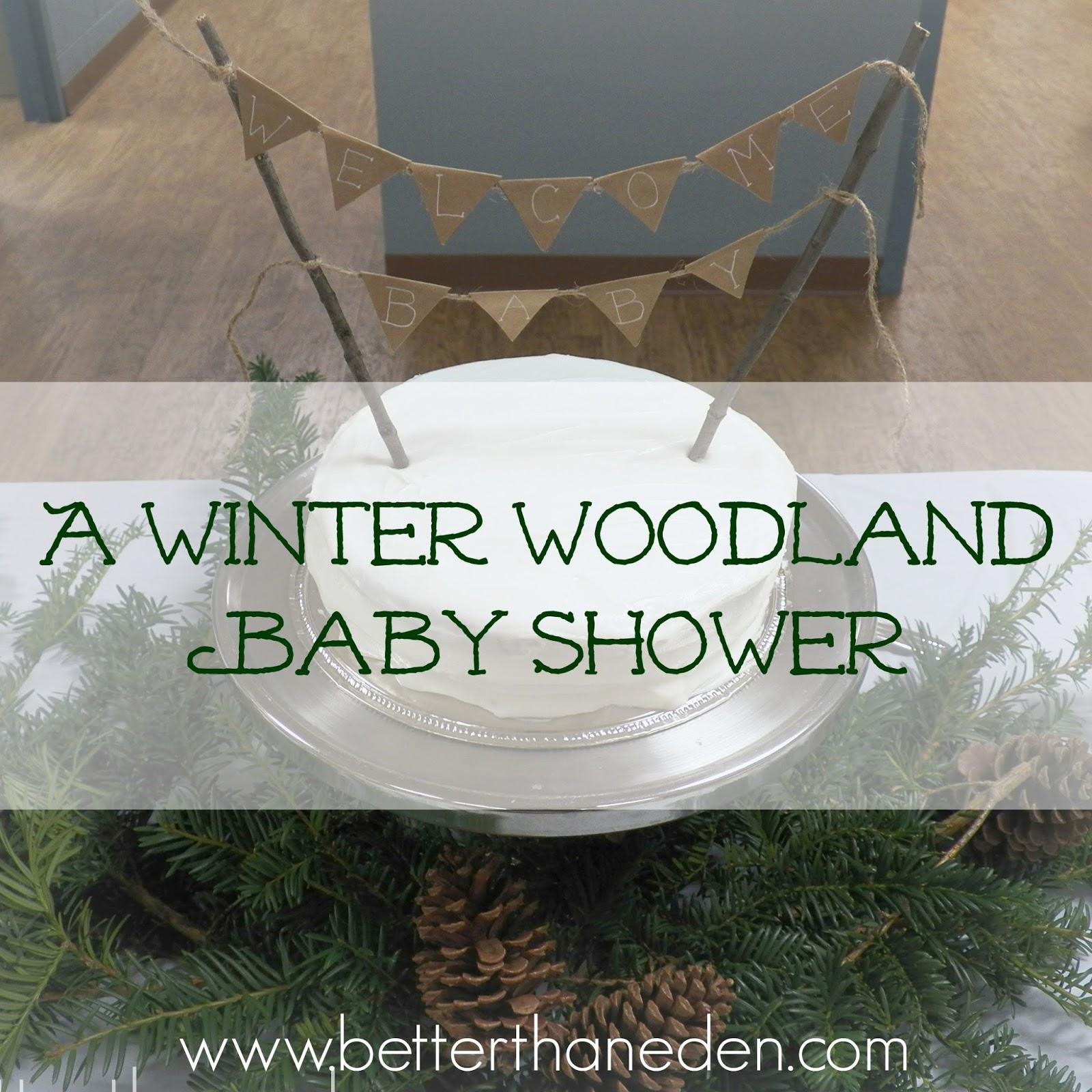 Winter Woodland Baby Shower